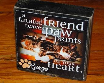 Pet Remembrance POEM Block- Larger Photo block- per block price- remember your beloved pet