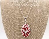 Memorial Flower Petal Jewelry, Memorial Beads, Keepsake Jewelry, Funeral Flower Jewelry, Memorial Gift Idea, Bradley Pendant