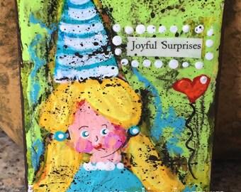 JOYFUL SURPRISES original Small Art Canvas