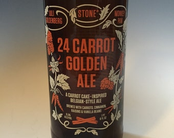 Stone 24 Carrot Golden Ale Recycled Bottle Glass