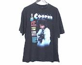 90s ALICE COOPER rock Tshirt 1990 vintage black cotton shock rock concert tour shirt