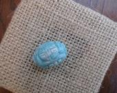 RESERVED FOR CUBAJUL Asian Carved Blue Green Jade Barrel Bead