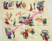 RESERVED 50s El Baile (The Dances of) Flamenco Spain Scarf