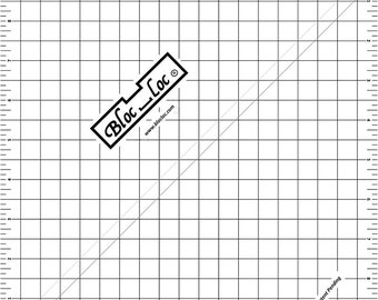 """Bloc-Loc 9.5"""" Inch Ruler - Half Square Triangle Ruler - Square Up Ruler for HST - Quilting Tool"""