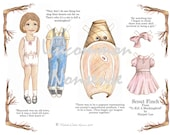 Scout Finch, An Artist Paper Doll