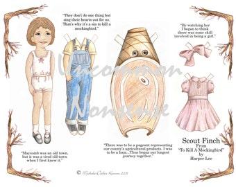 Scout Finch, An Artist Paper Doll