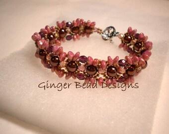 Beaded Floral Pearl Bracelet