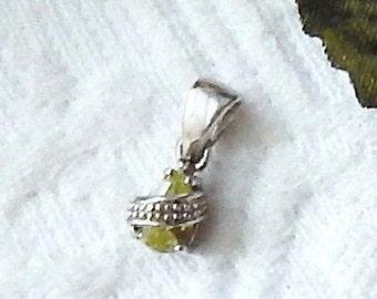 Sterling Silver Peridot Teardrop Pendant