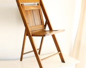 Vintage wood folding chair - The Standard Mfg Co - wood slats - all solid hardwood