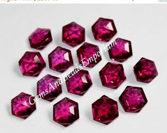 55% OFF SALE 15 Pcs 18x16 mm 7 Match Pair 1 Focal AAA Rubellite Pink Quartz Faceted Hexagon Shape Briolette, Loose Gemstone Beads, Earring P