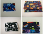 Space and Rockets and Aliens Card Wallet Party Pack Set of Four
