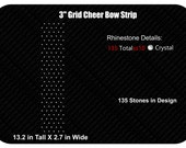 Grid Rhinestone Cheer Bow Template INSTANT FILE DOWNLOAD