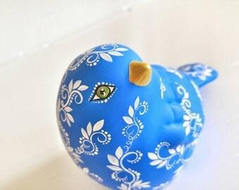Hand painted Blue Bird ceramic figurine Bluebird