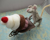 Happier than a mouse with a cupcake needle felted