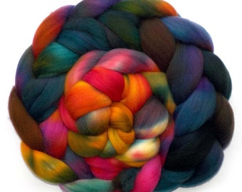 Roving Targhee Handdyed Combed Top - Hudson Valley, 5.4 oz.