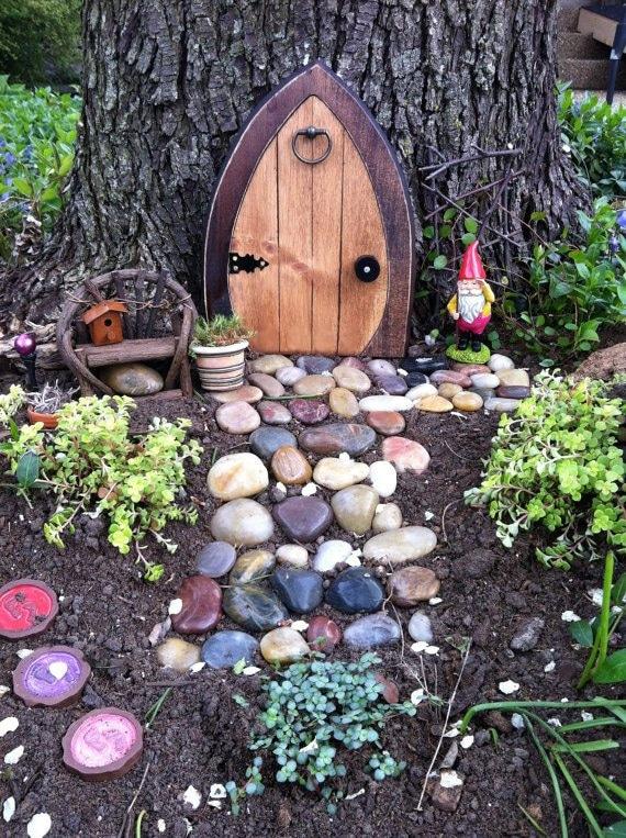 Gnome In Garden: Gnome Doors Fairy Doors Faerie Doors Elf Doors 9 Inch