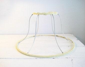 vintage bell shaped metal lamp shade frame