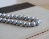 Freshwater Pearl Gemstone Grey Silver Platinum Round 8 to 9mm 50 beads Full Strand