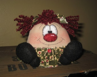 Primitive Handcrafted Raggedy Ann Sitter Bowl Filler Ornie Tuck Ornament