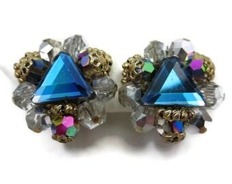 Beaded Earrings - Vendome Jewelry, Rhinestone, Filigree, Costume Jewelry
