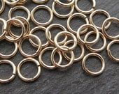Gold Filled Heavy Weight Open Jump Ring 7mm ~ 18 gauge (CG8707)