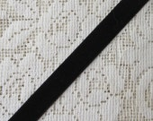 3 Yards Velvet Ribbon Trim Black 1/2 Inch Wide