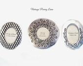 3 Silver Metal Picture Frames, Miniature Mini Lot