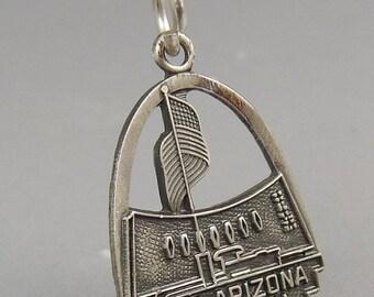 Vintage Sterling Silver Charm USS Arizona Memorial