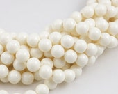 IVORY 6mm Swarovski Pearls 5810 6mm Creamy Swarovski Crystal Pearls Gemcolor Gem Color Beads Neutral Off White 6mm Round Beads