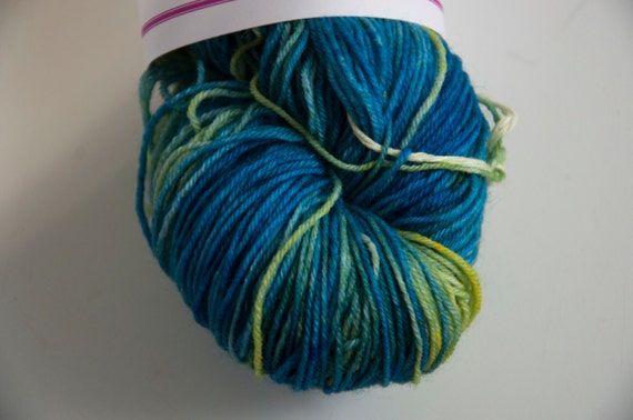 Hand-Dyed Yarn in Jungle Book Colourway Sock Yarn Superwash Wool/Nylon Tootsie Base