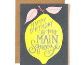 Happy Birthday to My Main Squeeze Illustrated Card//1canoe2