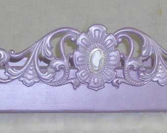Bed Canopy, bed crown, purple bedroom , lilac nursery decor
