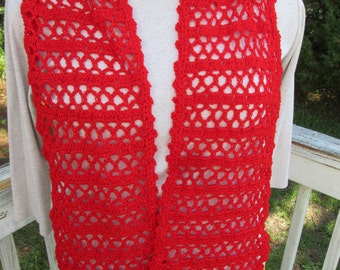 """Bright Red Sparkle """"Glam"""" Scarf"""
