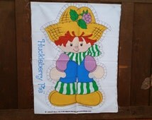 Vintage Uncut Stuffed Huckleberry Pie Doll Fabric Panels