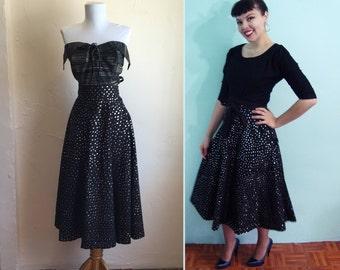 50s SEQUIN COVERED Senorita Mexican Skirt -  Vintage Souvenir 1950s