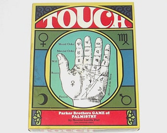 1970s vintage board game / 70s palm reading game / Touch Palm Reading Game