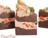 Carrot Cake Handmade Artisan Vegan Soap/Cold Process Soap/Cake Soap/Fall/Autumn