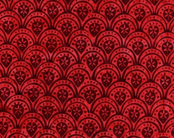 Hoffman Bali Batik 2761 187 Mayan Floral Acrhes By The Yard