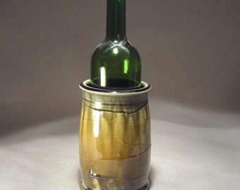 Stoneware Pottery Wine Chiller or Asparagus Keeper with Slip Texture and layered Glaze Finish