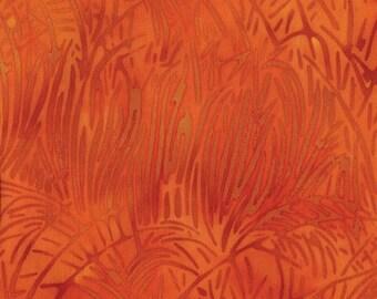 NEW - Fat Quarter - Orange Grass Batik - 121415232