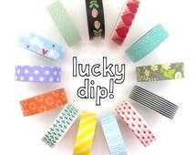 Washi Tape Set - 10 Roll Lucky Dip - Random Selection - Washi Tape Pack - Bulk Washi Tape - Washi Tape Australia - Washi Tape Lucky Dip