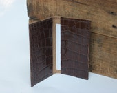 Faux Snake Skin Leather Business Card Holder OOAK By Binding Bee