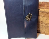 Blue Leather Baby Journal by Binding Bee Indianapolis, Indiana