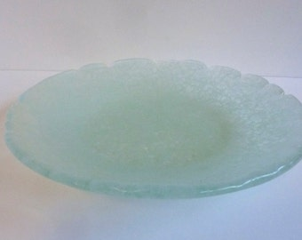 Fused Glass Bowl made from Reclaimed Tempered Window Glass