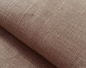 Chocolate Brown 100% hemp fabric for interiors or upholstery, perfect for printing projects