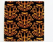 Baroque Halloween Napkins & Bah Humbug Napkins / Halloween - Christmas Table Decor / Pair of Each Design - 4 Napkins Total / Gift Under 50