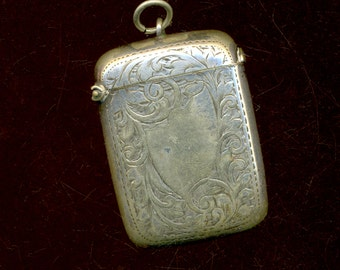 1890s Match Safe Pendant