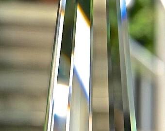 "Swarovski Crystal Suncatcher, Large Beveled 80mm Logo-Etched Pendant Rainbow Maker for Home Window Light Catcher - ""SYMPHONY"""