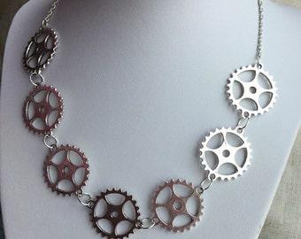 Gear Choker, statement choker, steampunk choker, steampunk jewelry