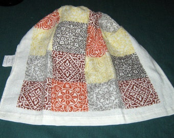 Crochet hanging Towel Squares with designs, grey top